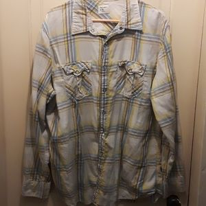 Old Navy Mens Pearl Snap Button Down Shirt